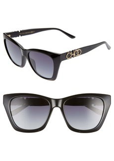JImmy Choo Rikki 55mm Cat Eye Sunglasses