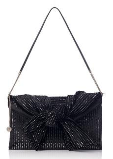 Jimmy Choo Riva Crystal Embellished Velvet Shoulder Bag