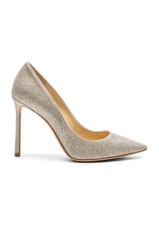 Jimmy Choo Romy 100 Dusty Glitter Heels