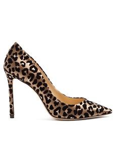 Jimmy Choo Romy 100 leopard-print velvet pumps