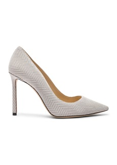 Jimmy Choo Romy 100 Embossed Leather Heel