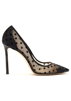 Jimmy Choo Romy 100mm polka-dot pumps