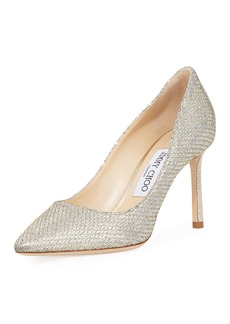 Jimmy Choo Romy 85mm Glitter Pump