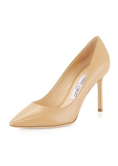 Jimmy Choo Romy 85mm Kid Leather Pump