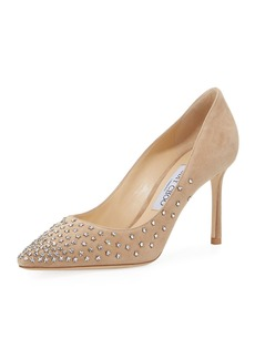 Jimmy Choo Romy Beaded Suede 85mm Pump