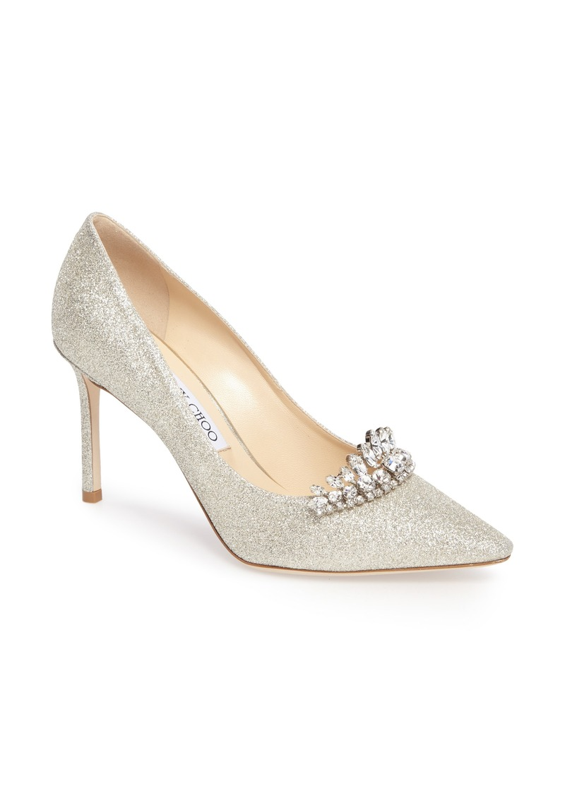 Jimmy Choo Romy Crystal Embellished Pump (Women)