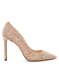 Jimmy Choo Romy 100 crystal pumps