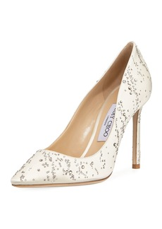 Jimmy Choo Romy Fireworks Satin Pump