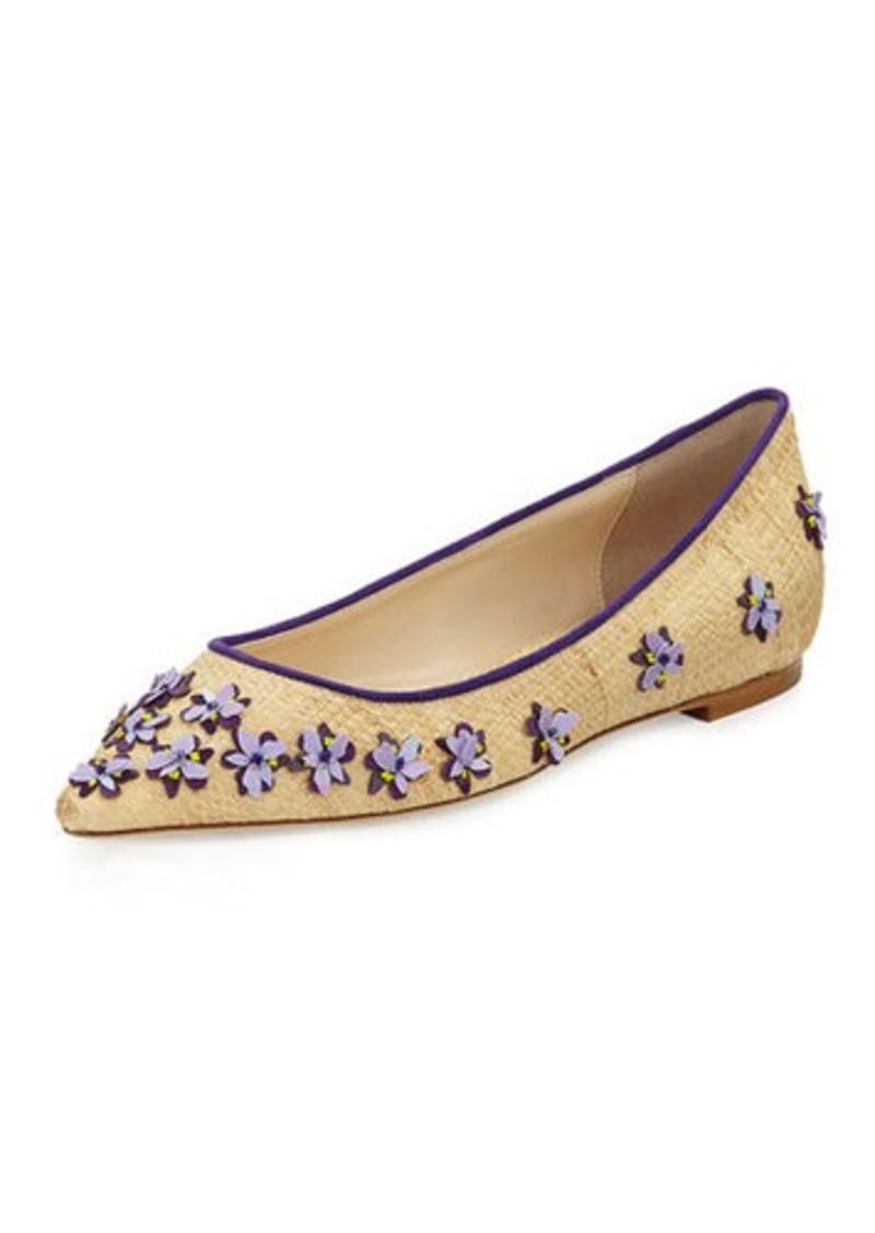 231efb4806cc9 Jimmy Choo Jimmy Choo Romy Flower Raffia Ballerina Flat | Shoes