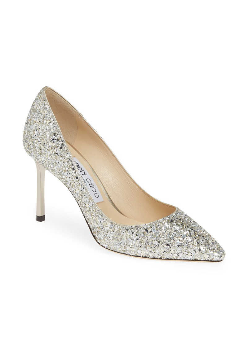 Jimmy Choo Romy Glitter Pointy Toe Pump (Women)