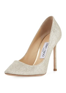 Jimmy Choo Romy Glittered 100mm Pump