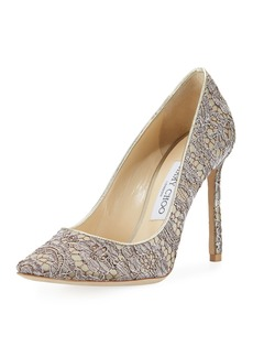 Jimmy Choo Romy 100mm Love Lace Pump