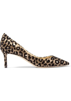 Jimmy Choo Romy 60 leopard-print devoré-satin pumps