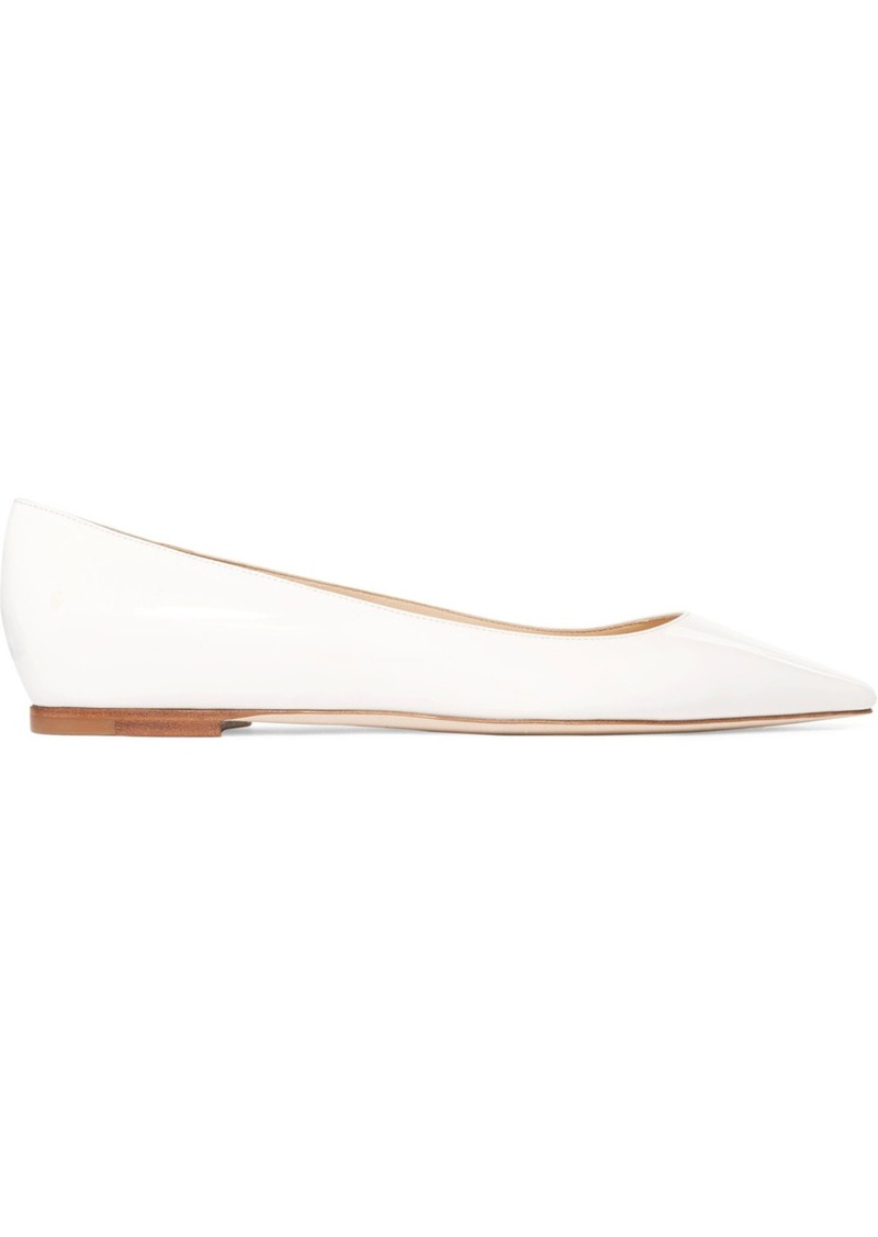 fd7a3c0613 On Sale today! Jimmy Choo Romy Patent-leather Point-toe Flats