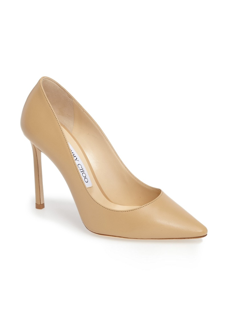 Jimmy Choo Romy 100 Pointy Toe Pump (Women)