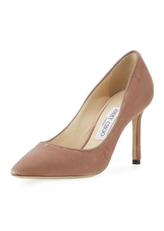 Jimmy Choo Romy Velvet Fabric 85mm Pump