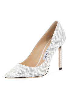 Jimmy Choo Romy Woven Leather 100mm Pump