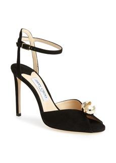 Jimmy Choo Sacora Imitation Pearl Sandal (Women)