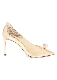 Jimmy Choo Sadira 85 snakeskin-effect pumps
