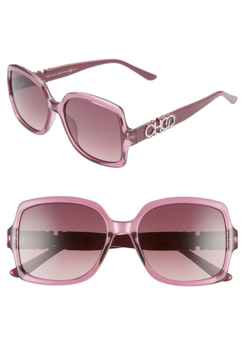 Jimmy Choo Sammi 55mm Square Sunglasses