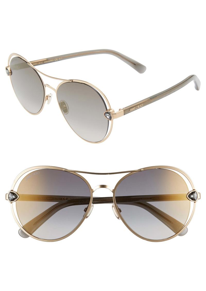 Jimmy Choo Sarah 56mm Aviator Sunglasses
