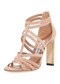 Jimmy Choo Selina Strappy Suede Sandal