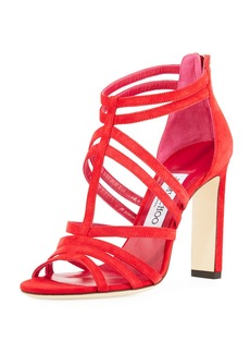 Jimmy Choo Selina Suede Strappy 100mm Sandal