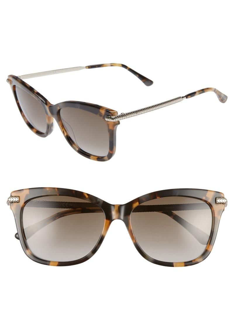 Jimmy Choo Shade 55mm Cat Eye Sunglasses