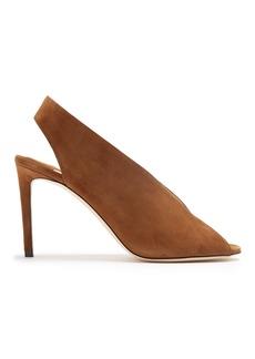 Jimmy Choo Shar 85mm peep-toe suede slingback sandals