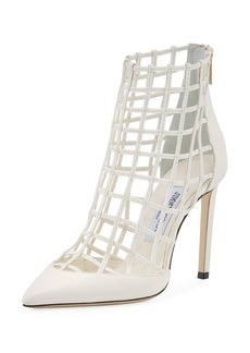 Jimmy Choo Sheldon Napa Leather Cage Bootie
