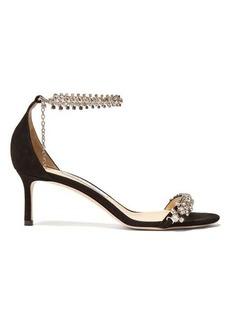 Jimmy Choo Shiloh 60 crystal-bracelet suede sandals