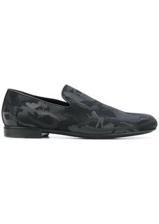 Jimmy Choo Sloane camouflage print slippers - Black