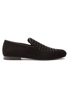 Jimmy Choo Sloane star-embellished suede loafers