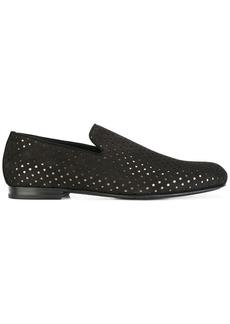 Jimmy Choo Sloane star perforated loafers - Black