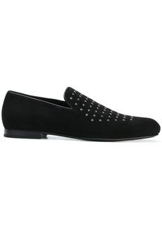 Jimmy Choo Sloane star studded loafers - Black