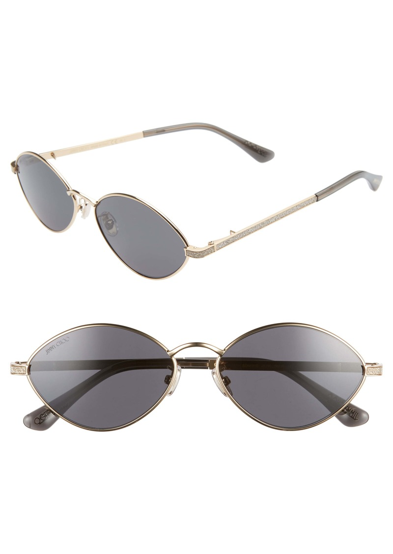 Jimmy Choo Sonny 58mm Oval Sunglasses with Chain