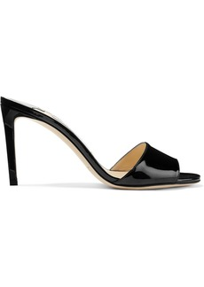 Jimmy Choo Stacey 85 patent-leather mules
