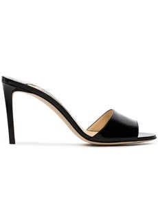 Jimmy Choo Black Stacey 85 patent leather mules