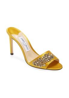 Jimmy Choo Stacey Crystal Embellished Slide Sandal (Women)