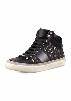 Jimmy Choo Men's Star-Studded Hi-Top Sneakers