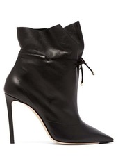 Jimmy Choo Stitch 100 drawstring leather ankle boots