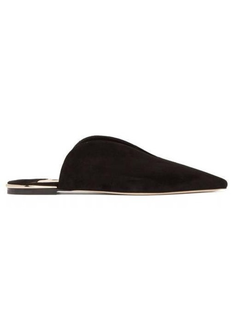 Jimmy Choo Tahla suede backless loafers