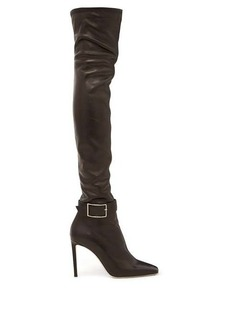 Jimmy Choo Takara 100 buckled leather over-the-knee boots