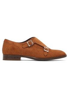 Jimmy Choo Tate double monk-strap suede shoes