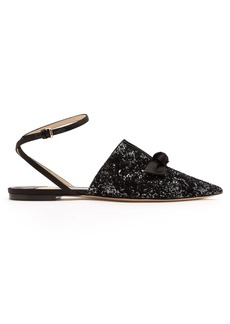 Jimmy Choo Temple glitter flat