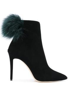 Jimmy Choo Tesler pom pom ankle boots - Black