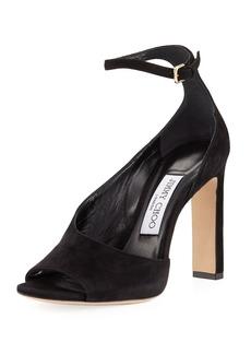 Jimmy Choo Theresa Half-d'Orsay Ankle-Strap Sandal