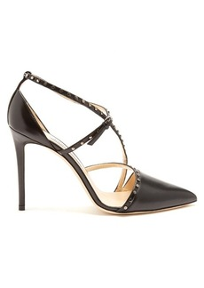 Jimmy Choo Tiff stud-embellished leather pumps
