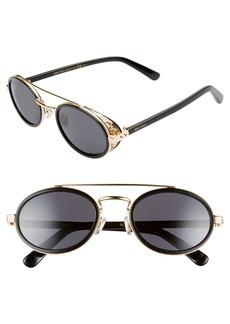 Jimmy Choo Tonies 51mm Round Sunglasses