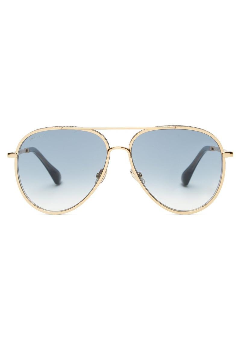 b447f63cbad Jimmy Choo Jimmy Choo Triny glitter aviator sunglasses